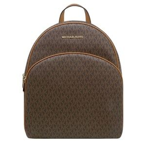 MICHAEL KORS LARGE ABBEY MK SIGNATURE BACKPACK